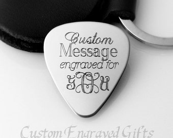 Engraved Guitar Pick. Custom. Personalized. Guitar Pick. Pic. Boyfriend. Daddy. Father's Day Gift. Gift for Father. Mens Jewelry. Mens Gifts