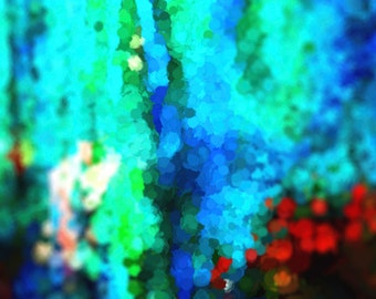 Red, Black, Blue, Teal, Royal Blue, Large Canvas Abstract Photography, Blue, Green, Abstract Print, Large Abstract Canvas, Abstract Rain