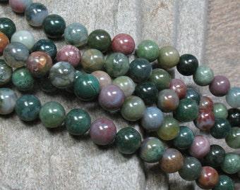 "Fancy Jasper Beads, 10 mm, 15.5"" strand - Item B0365"