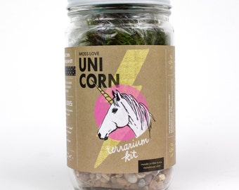Terrarium Kit // Unicorn // DIY Moss Terrarium