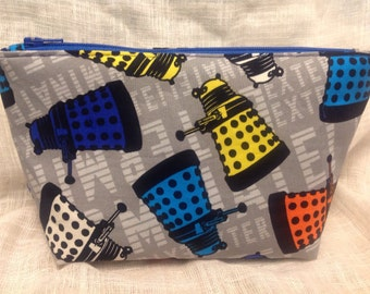 Dr Who Dalek Large Zipper Clutch