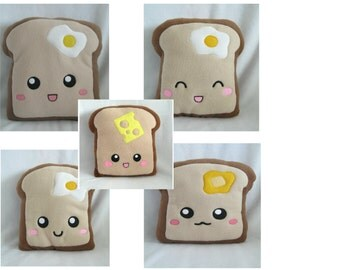 Toast Pillows Handmade 5 versions Cute and Cool
