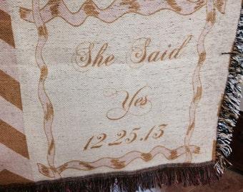 Wedding Throw/Blanket, wedding gift, wedding keepsake, wedding blanket, wedding throw,