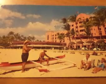 Vintage 1961 ROYAL HAWAIIAN HOTEL Postcard Free Shipping