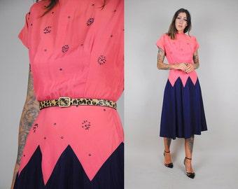 vtg 30's/40's studded bead DRESS