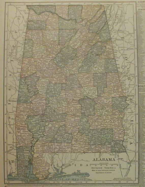 Alabama MapMontgomery Birmingham Talladega MobileUSA State