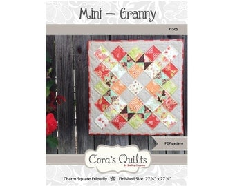 Mini Granny DIGITAL pdf Pattern by Cora's Quilts (#1505)