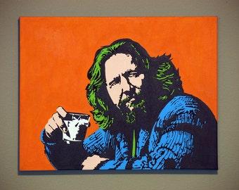 The Dude, The Big Lebowski - Pop Art Acrylic Painting