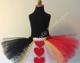Children's Queen of Hearts inspired tutu.
