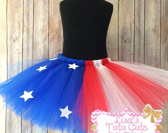 stars and stripes tutu, 4th of july tutu, fourth of july tutu, red white and blue tutu, independence day tutu, star tutu, american flag tutu