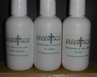 Mens Lotion - Shea Butter & Aloe Lotion - Goatmilk lotion - Okamoss and Sandalwood - Patchouli scented Lotion -  Musk scented lotion