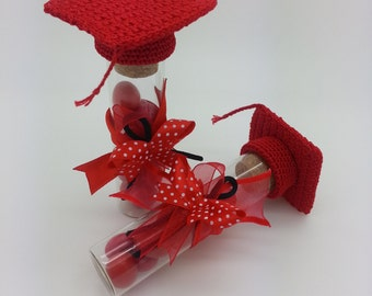 Favor for degree-red touch-confetti glass Door