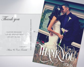 Thank You Postcards; custom printed with personal message