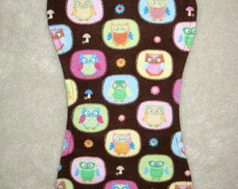 Owl burp cloths, Baby girl burp cloths, Yellow/pink/green/blue burp cloths,  Set of 3 Burp Cloths