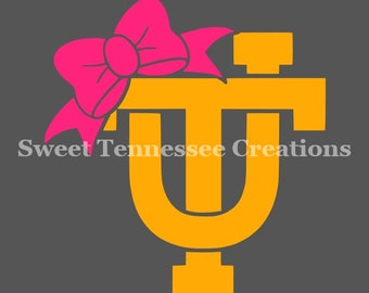 UT Tennesse Vols Decal With Bow