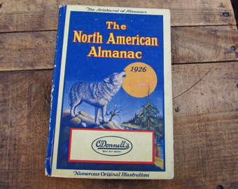 Vintage 1926 Aristocrat of Almanacs The North American Almanac - Odonnell's