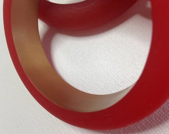 Resin Bangle Bracelets-Red or Purple-New Stock