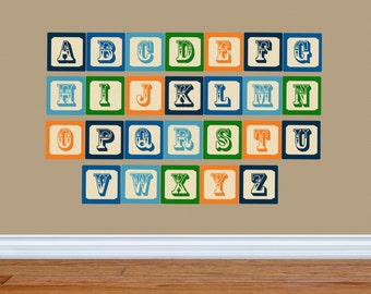 Alphabet Wall Decals - ABC Wall Decals - Nursery Wall Decals - Alphabet Wall Art - Boys Wall Decals