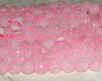 Faceted Rose Quartz Gemstones - 6MM