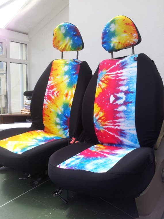 tye dye car seat covers car front seat covers by funkmyseat. Black Bedroom Furniture Sets. Home Design Ideas