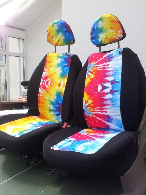 tie dye car seat covers car front seat covers boho hippy. Black Bedroom Furniture Sets. Home Design Ideas