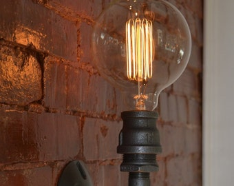 Wall Sconce - Industrial Lighting - Wall Sconce - Industrial Light - Wall Light - Old Light - Steel Light - Light Fixture - steampunk light