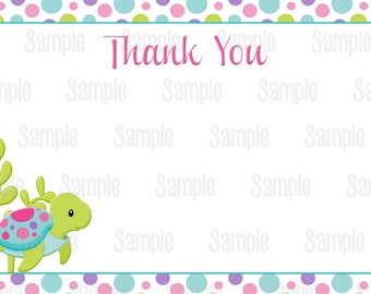 Instant Download Printable Under the sea baby shower thank you card