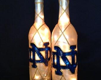 Notre Dame Wine Bottle Lamp