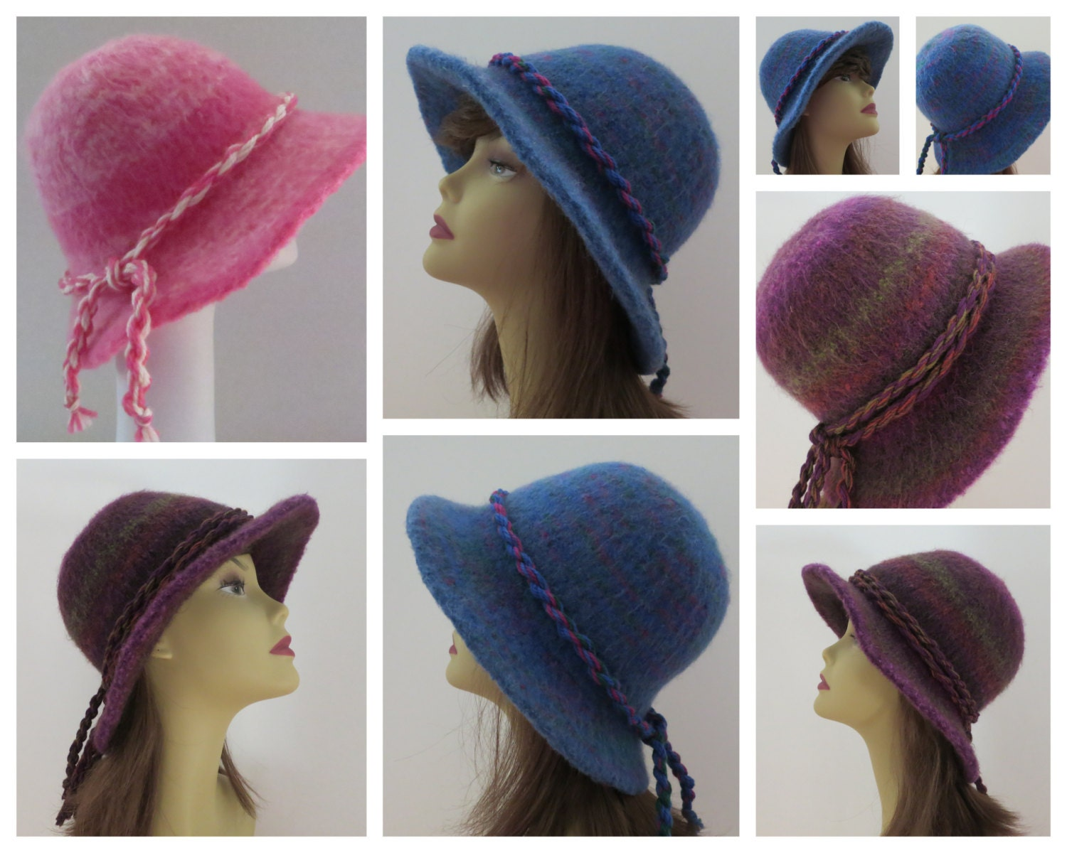 Knitting Pattern Cowboy Hat : Felted Hat Pattern 203 Flat Brim Hat Felt Hat Knitting
