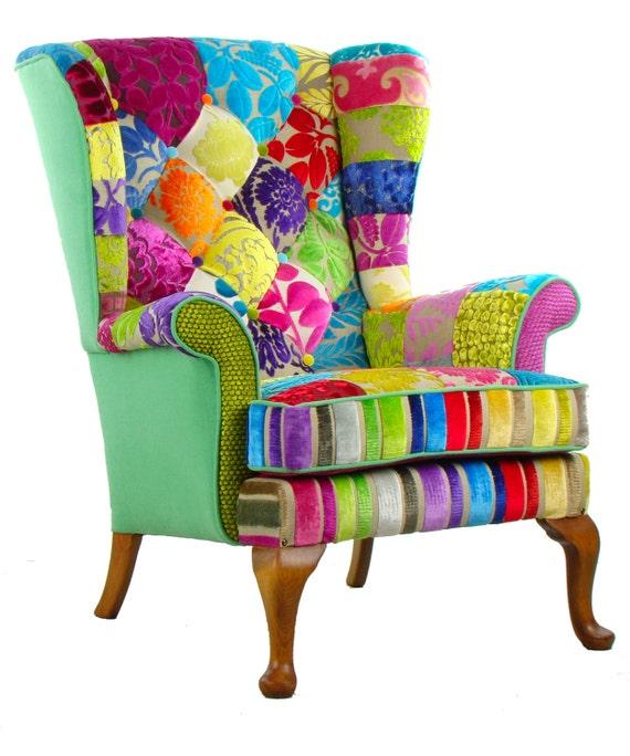 Articles similaires patchwork parker knoll fauteuil designers guild tissus - Fauteuil tissu patchwork ...