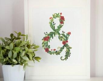 "Ampersand - Spring Flowers, Art Print - 8.5"" x 11"""