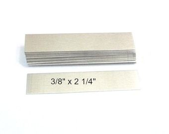 3/8 x 2 1/4 - 20G -1100 Alum  blanks - hand stamp - Ring Blanks - Jewelry Blanks//Rectangle Blanks