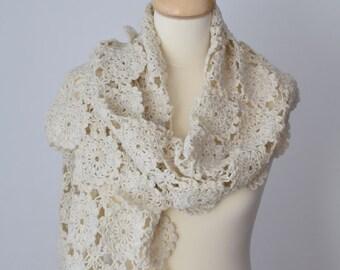 Crochet Shawl Pattern, Crochet Scarf Pattern, Kaasni