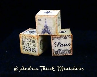 The Paris Cubes - 1:12 scale - choose between light green, pink or cream