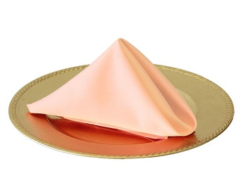 Blush Peach Napkin for Weddings (Pack of 10), 20 Inch L'amour Wedding Napkins