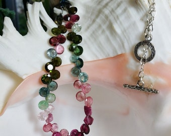 Gemmy Faceted Tourmaline Necklace