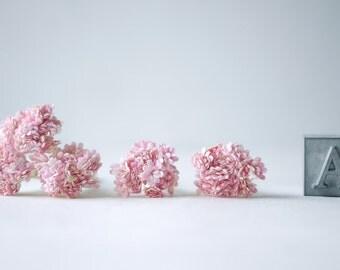 Paper Flower, 100 pcs.,Baby breath size 0.8 cm., Pink  color.