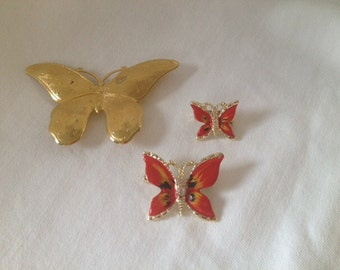 Butterfly pins/brooches
