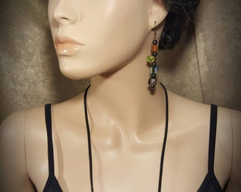 Flow - Necklace And Earring Set - By Carbon Arc Adornments - UPC 700153944229