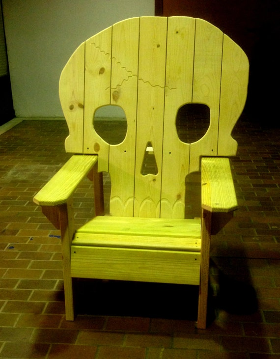 Skull Chair Adirondack Chair Yard Furniture Solid Wood By