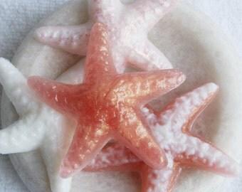 Starfish Soap, Glycerin Soap, Melt and Pour Soap, Seashell Soap, Beach Decor, Soap Gift Set, Palm Free Soap, Vegan Soap, Novelty Soap, Gift
