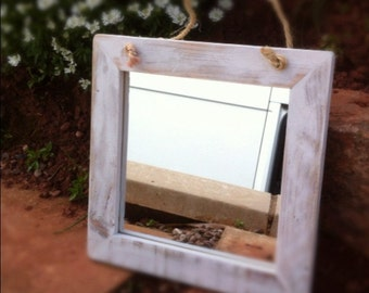 Shabby Chic Recycled Wood Mirror