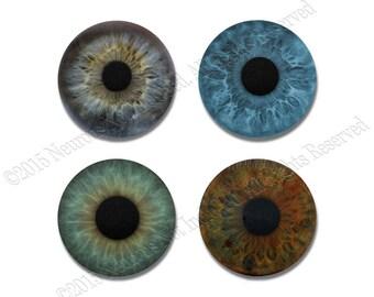 Eyeballs Coasters - 4 Piece Neoprene Non-Skid Coaster Set - Eye Doctor Gift - Vision Technician Gift - Geek Coasters - Funny Coasters