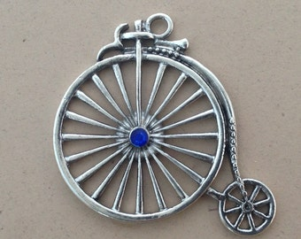 1  bicycle charm antique silver 46mm # CH 025