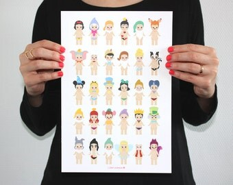 A4 Print - Sonny Angel x Disney Illustrations - Serie 1