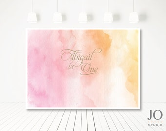 Watercolour / Watercolor / Sweet Table / Candy Buffet Printable Backdrop / Birthday / Wedding