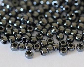 TOHO Seed Bead 6/0 ~ Metallic Hematite ~ 8 Grams  (TR-06-81) E-5