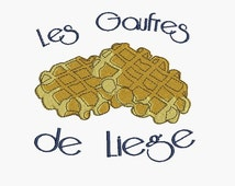instant download embroidery design Liège waffles