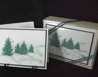 Tree's in the Snow - Boxed set of 12 cards and envelopes
