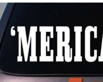 "MERICA Sticker Funny Vinyl Decal America USA pride 7"" Vinyl Decal Widow Sticker for Car, Truck, Motorcycle, Laptop, Ipad, Window, Wall, ETC"